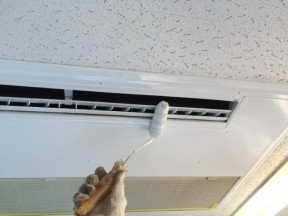 神奈川県平塚市 某飲食店 エアコン塗装工事