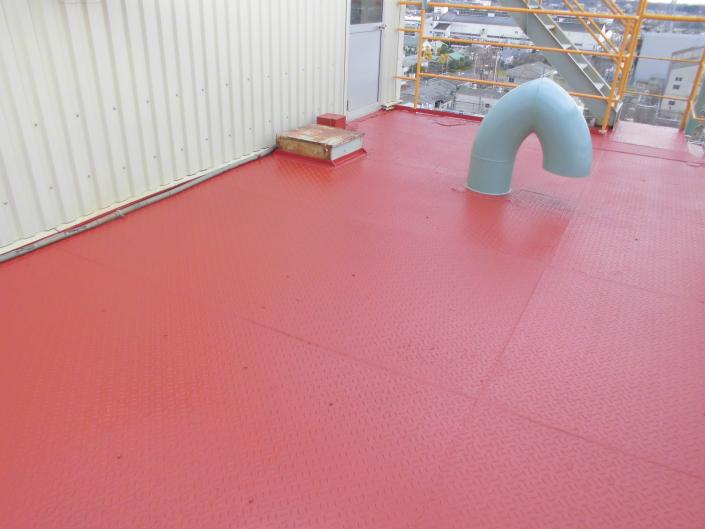 寒川町 某工場|鉄骨階段の塗装工事