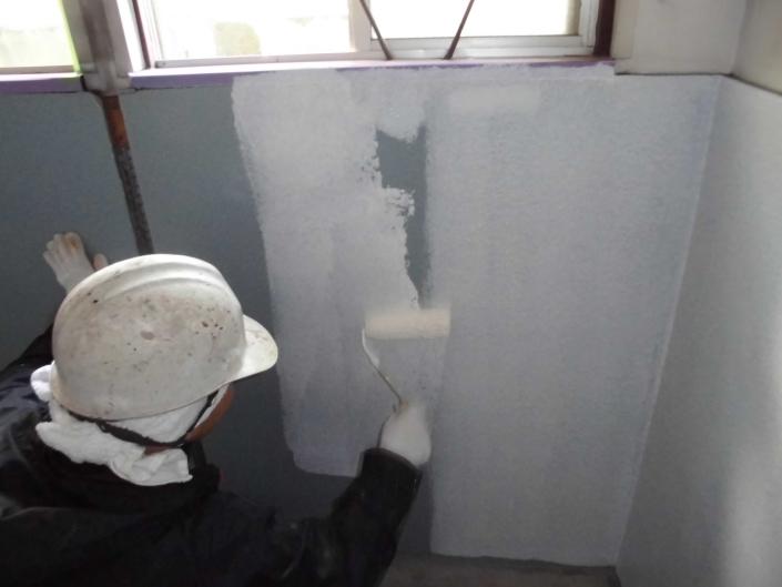 寒川町 某会社工場|工場内トイレ室内塗装工事