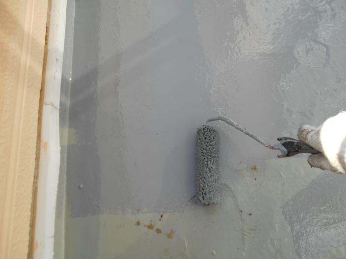 茅ヶ崎市菱沼のS様邸 木造一戸建て|ベランダの防水・雨漏り補修の工事(塗料:プルーフロン)