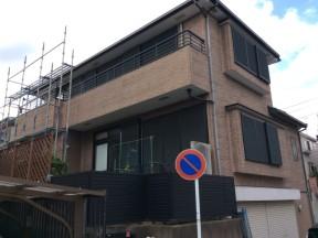 横浜市南区六ッ川のN様邸 木造一戸建て|外壁の塗装(塗料:パーフェクトトップ)