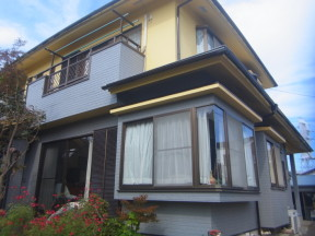 平塚市豊田のO様邸 木造一戸建て|外壁・屋根の塗装工事(塗料:カラリアート)