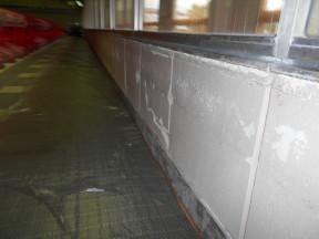 神奈川県秦野市の某スイミングスクール 壁の補修塗装工事(塗料:セラMフッ素)