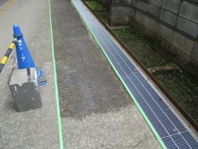 神奈川県高座郡寒川町の自動車部品工場|アスファルト塗装工事(塗料:水性ハードライン)