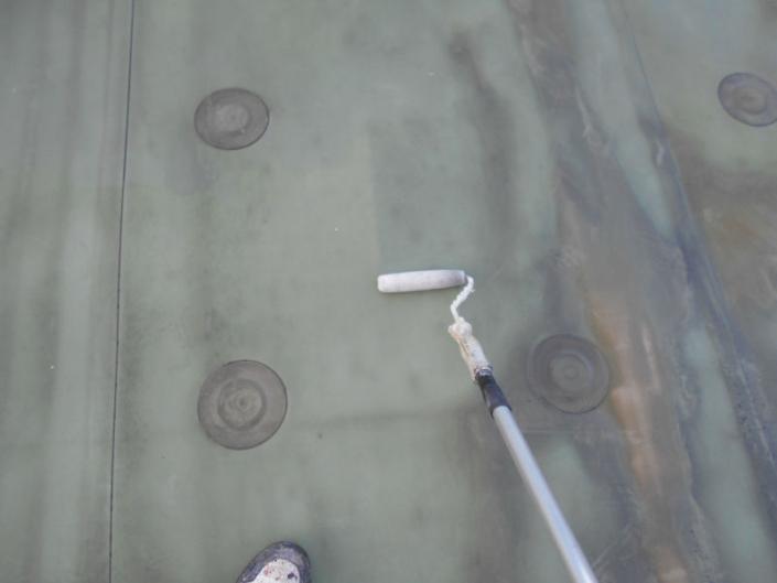 屋上の防水工事(水性アトレーヌ)|神奈川県平塚市唐が原のH様邸
