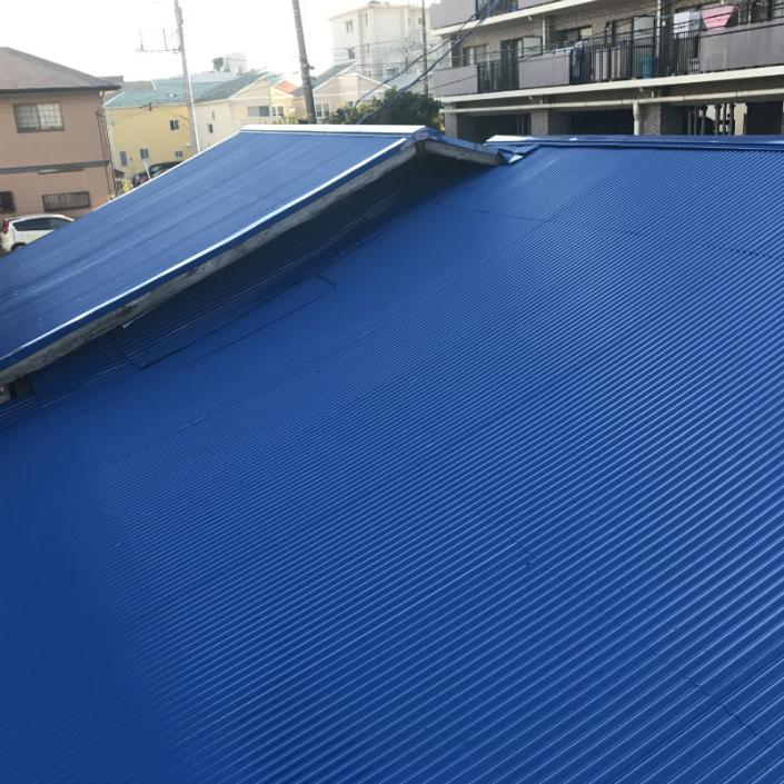 トタン屋根の塗装工事(パワーMレタン)|神奈川県平塚市のS様邸