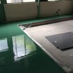 工場内の床の塗装工事 神奈川県平塚市の某自動車部品工場
