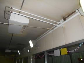 配管及びエアコンの塗装工事 神奈川県平塚市の某施設