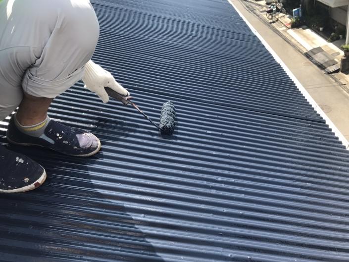 木造2階建ての屋根の塗装リフォーム工事|神奈川県平塚市見附町のK様邸