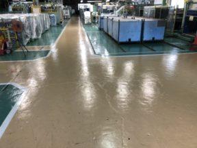 部品製造ブースの床塗装工事|神奈川県茅ケ崎市の某部品製造工場の塗床工事
