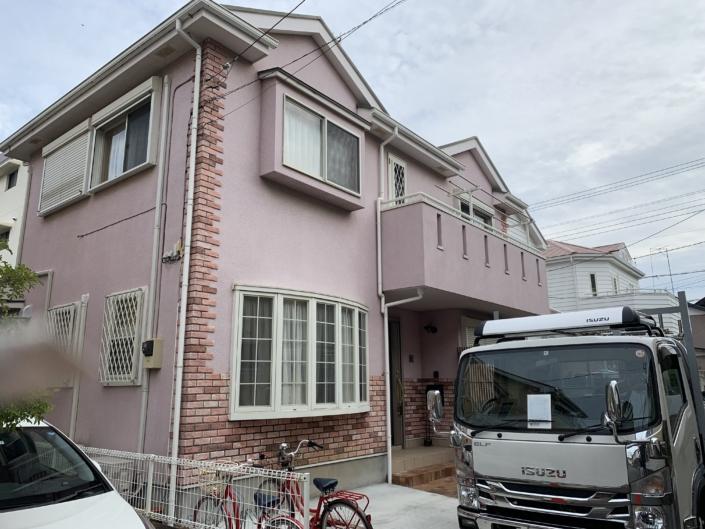 平塚市の屋根の交換(吹き替え)、外壁塗装の工事