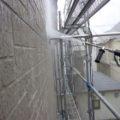外壁の水洗い(高圧洗浄)|神奈川県平塚市のお客様宅にて塗り替えリフォーム中