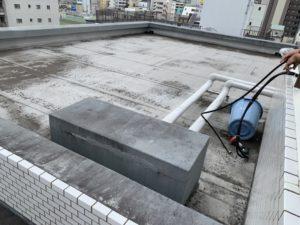 マンションの屋上防水前