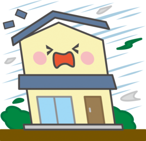 台風に伴う強風