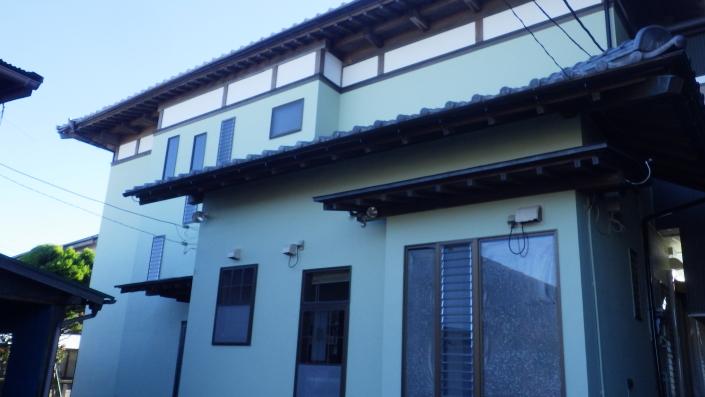 外壁・屋根の塗装工事完工