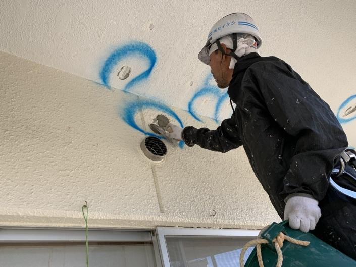 外壁の塗装工事|相模原市中央区の某老人ホームにて塗り替えリフォーム