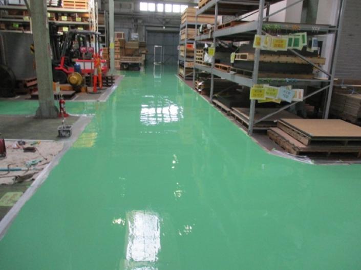 床の剥がれに伴う塗装工事|藤沢市の某製造工場にて塗り替え塗装