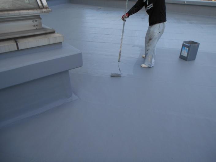 屋上のウレタン樹脂2層目